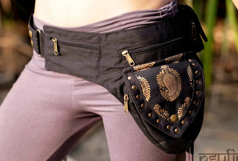Utility Belt - Hip Bag, Pocket Belt, Psytrance Belt Bag, Festival Belt, Fanny Pack, Hip Bag