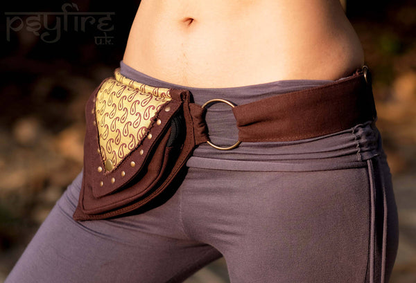 TEARDROP Utility Belt - Festival Belt, Boho Pocket Belt, Psy Belt, Fanny Pack Hippie Hip Bag