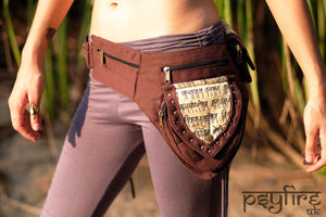 SANSKRIT Utility Belt - Festival Belt, Fanny Pack, Boho Pocket Belt, Hippie Hip Bag, Psytrance