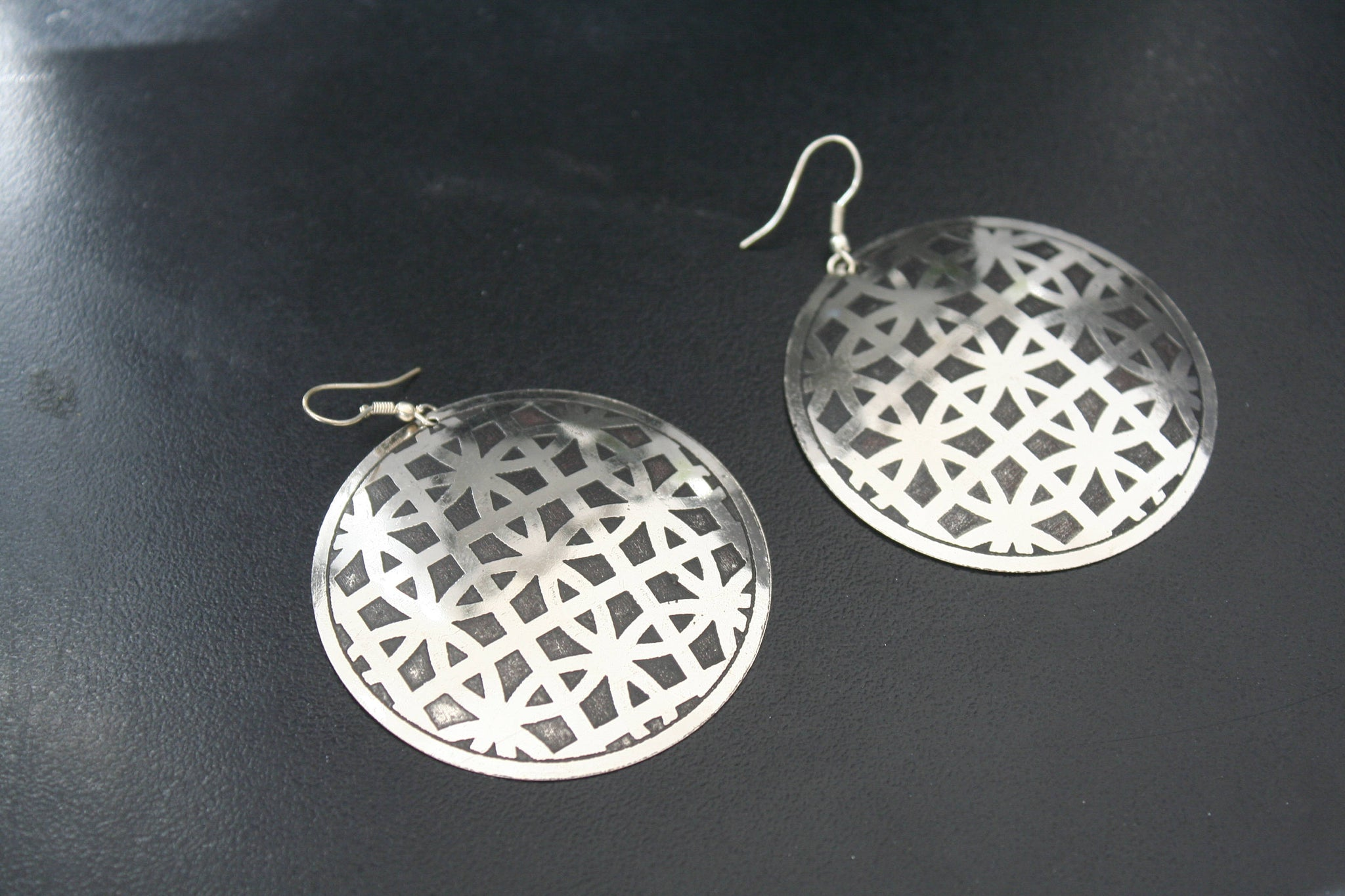 FLOWER OF LIFE Earrings - Silver Earrings, Hippie Earrings, Psy, Boho Earrings, Tribal Earrings, Bohemian, Sacred Geometry Earrings, Gypsy