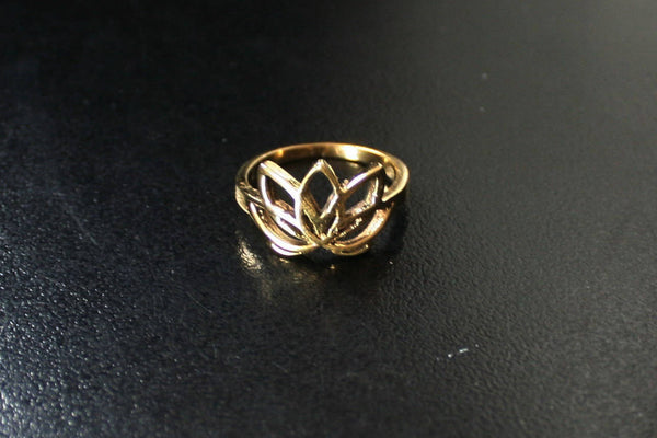 LOTUS Brass Ring  - Gypsy Ring, Tribal Ring, Boho Brass Ring, Psy, Bohemian Ring, Sacred Geometry, Psytrance, Hippy Ring, Lotus Ring, Psy