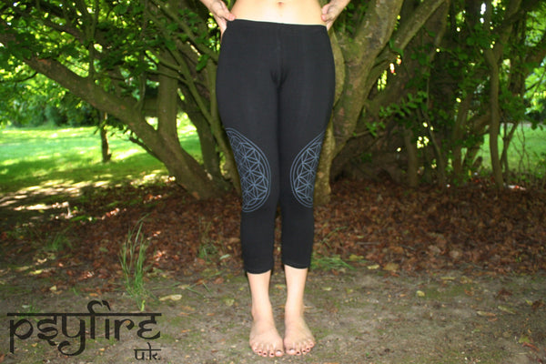 FLOWER OF LIFE Leggings - Hippie Yoga Pants, Festival Leggings, Psytrance Leggings, Yoga Pants, Flow Leggings, Festival Clothing, Pixie, Psy