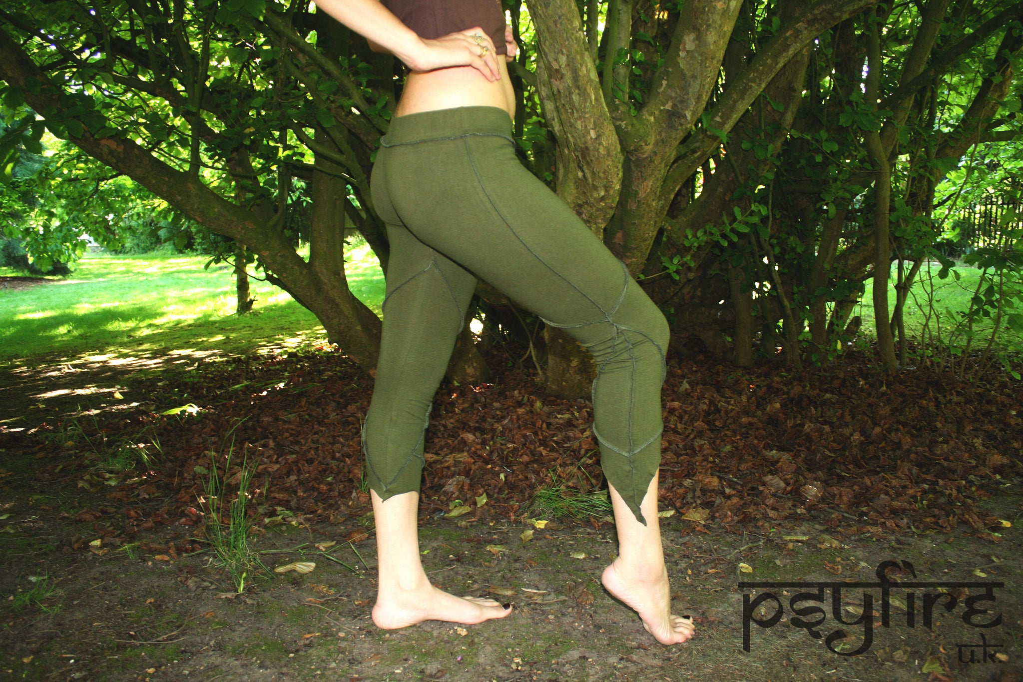 GREEN PIXIE Leggings - Hippie Yoga Pants, Festival Leggings, Psytrance Leggings, Yoga Pants, Flow Leggings, Festival Clothing, Pixie, Psy