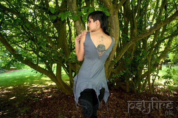 PSYTRANCE Top - Weave Top, Woven Top, Slashed Top, Festival Top, Pixie Top, Hippie Top, Boho Top, Psy Top, Rave Top, Rave Wear, Bohemian
