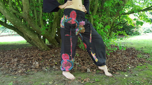 PEACOCK Harem Pants - Ali Baba Trousers, Hippie Yoga Pants, Fisherman Pants, Boho Trousers, Aladdin Trousers, Festival Clothing, Psytrance