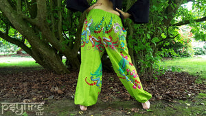 GREEN Harem Pants - Ali Baba Trousers, Hippie Yoga Pants, Fisherman Pants, Boho Trousers, Aladdin Trousers, Festival Clothing, Psytrance
