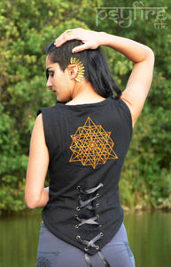 EMBROIDERED Waistcoat - Hippie Waistcoat, Festival Top, Bolero, Hippie Top, Festival Waistcoat, Psytrance Top, Pixie Top, Festival Clothing