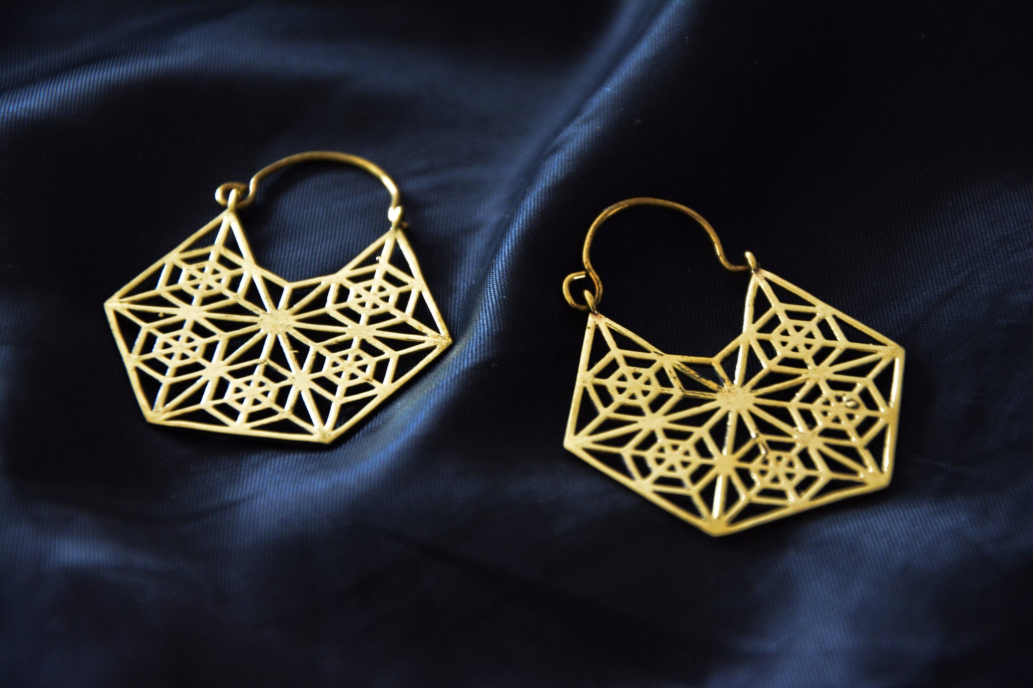 GEOMETRIC Earrings - Tribal Jewellery, Tribal Hoops, Tribal Earrings, Psytrance, Geometric Earrings, Sacred Geometry Earrings, Gypsy