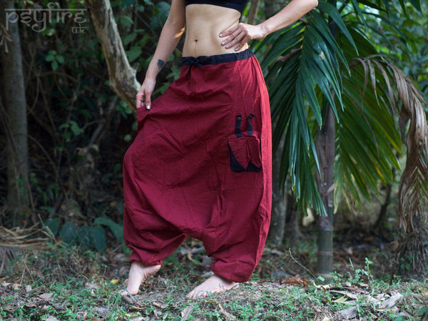 JUNGLE Harem Pants - Unisex Ali Baba Trousers, Hippie Yoga Pants, Fisherman Pants, Boho Baggy Trousers, Psytrance Pants, Aladdin Trousers