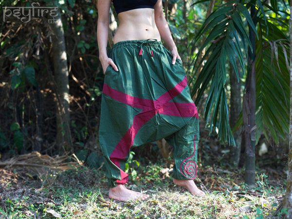 JUNGLE Harem Pants - Unisex Ali Baba Trousers, Hippie Yoga Pants, Harem Pants Women, Boho Baggy Trousers, Psytrance Pants, Harem Pants Men