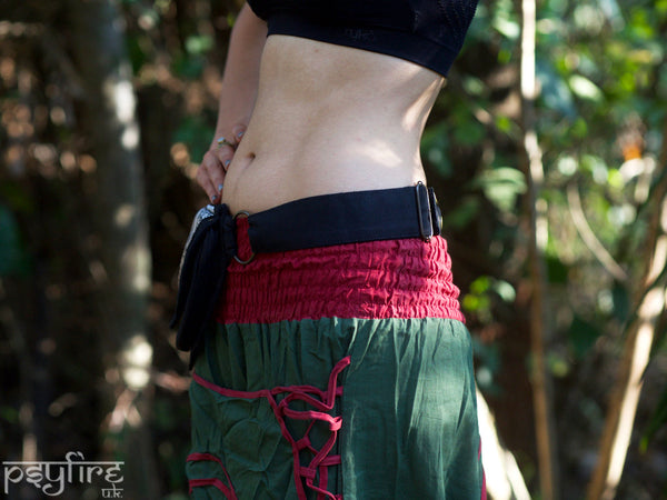 MANDALA Satin Festival Utility Belt - Festival Belt, Fanny Pack, Boho Pocket Belt, Psy Belt, Hippie Hip Bag, Travel Belt, Psytrance Belt