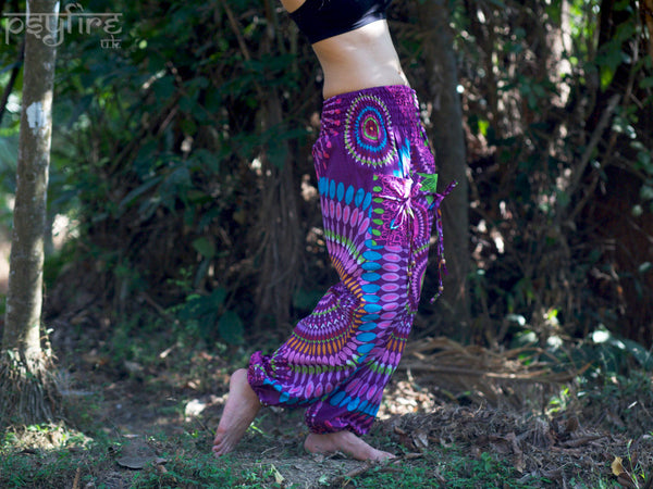 PSY Harem Pants - Ali Baba Trousers, Hippie Yoga Pants, Fisherman Pants, Boho Trousers, Aladdin Trousers, Festival Clothing, Psytrance Pants