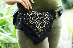 FRACTAL Utility Belt - Festival Belt, Hip Bag, Hippie Fanny Pack, Pocket Belt, Psy Belt, Psytrance
