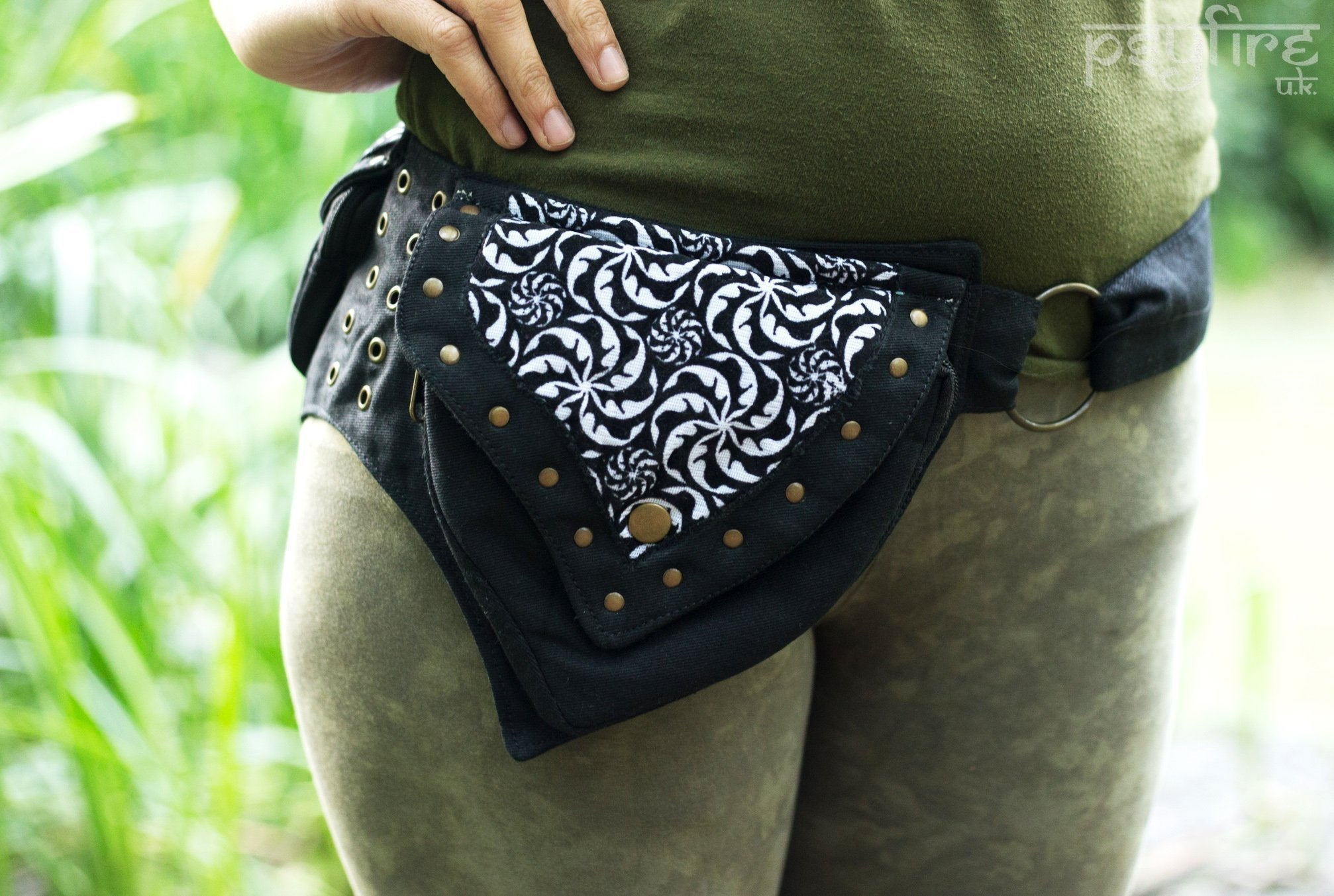 FRACTAL Utility Belt - Festival Belt, Psytrance Pocket Belt, Psy Hippie Hip Bag, Accessories