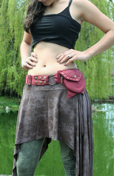 RED LACE Utility Belt - Festival Belt, Hippy Fanny Pack, Boho Pocket Belt, Psy Belt, Hippie Hip Bag, Travel Belt, Psytrance Belt