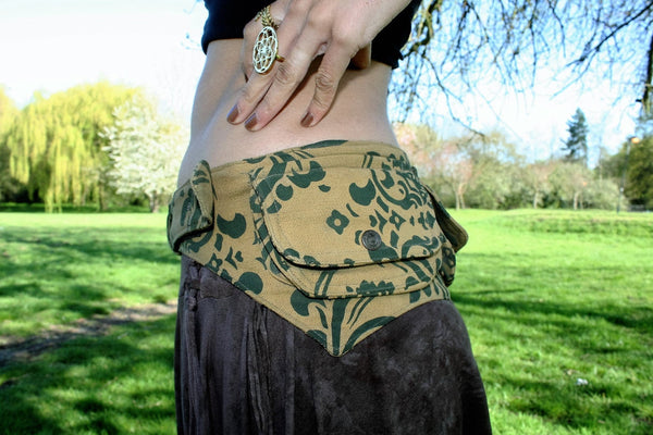 FILIGREE Festival Utility Belt - Festival Belt, Festival Fanny Pack, Boho Pocket Belt, Psy Belt, Hippie Hip bag, Travel Belt, Psytrance Belt