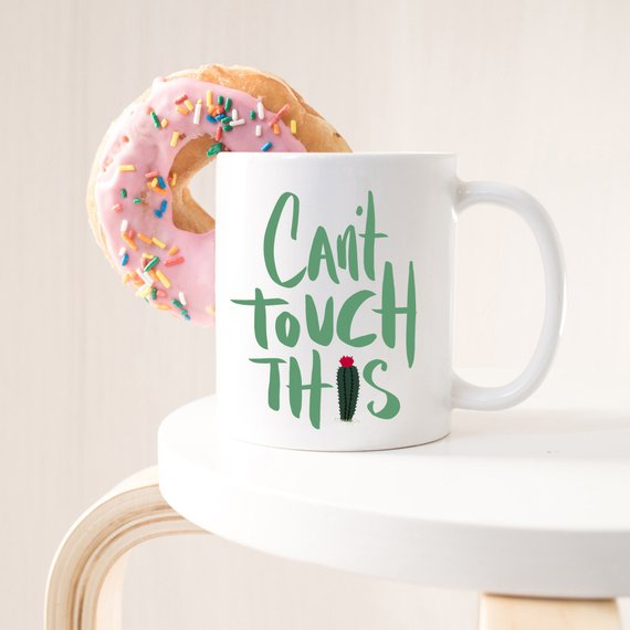 Cactus Lover Gift, Funny Cactus Mug, Can't Touch
