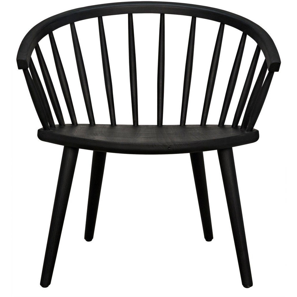 Noir Pauline Dining Chair, Charcoal Black-Furniture-Noir Furniture-Heaven's Gate Home