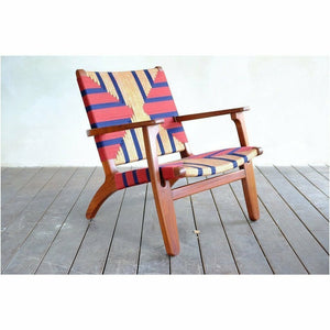Masaya Arm Chair, Pattern Manila/Rosita Walnut-Accent & Lounge Chairs-Masaya & Co.-Momotombo Manila-Heaven's Gate Home