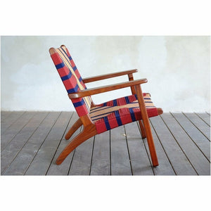 Masaya Arm Chair, Pattern Manila/Rosita Walnut-Accent & Lounge Chairs-Masaya & Co.-Ometepe Manila-Heaven's Gate Home