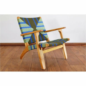 Masaya Arm Chair, Pattern Manila/Teak-Accent & Lounge Chairs-Masaya & Co.-Emerald Coast Manila-Heaven's Gate Home