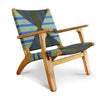 Masaya Arm Chair, Pattern Manila/Teak-Accent & Lounge Chairs-Masaya & Co.-Momotombo Manila-Heaven's Gate Home