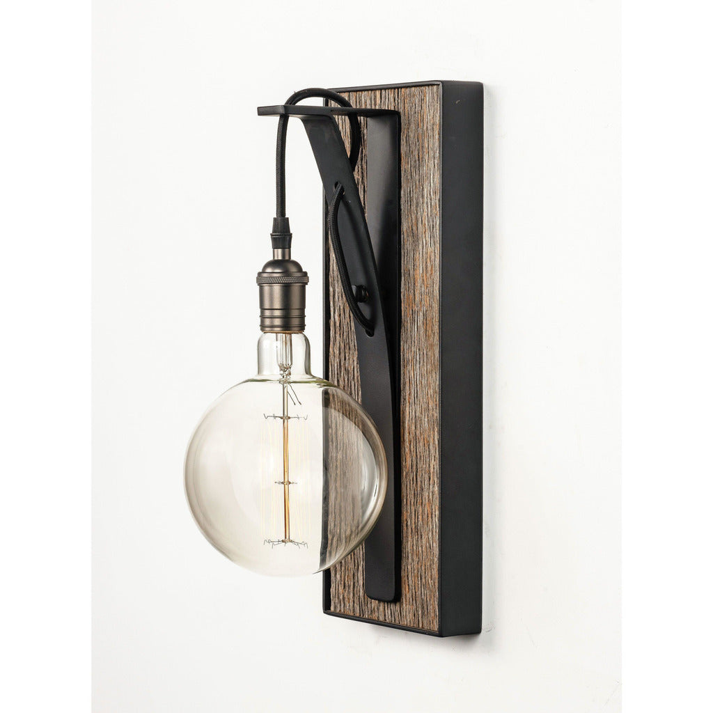 Carroll by Design The Row - Small Gray Barnwood Sconce-annieandel