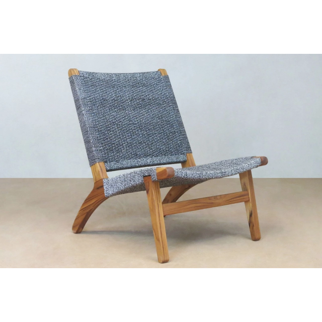 Masaya Lounge Chair, Solid Manila/Teak-Accent & Lounge Chairs-Masaya & Co.-Granito Manila-Heaven's Gate Home