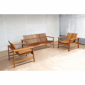 Masaya Verbena Outdoor Love Seat - Teak-Lounge Chairs-Masaya & Co.-Heaven's Gate Home