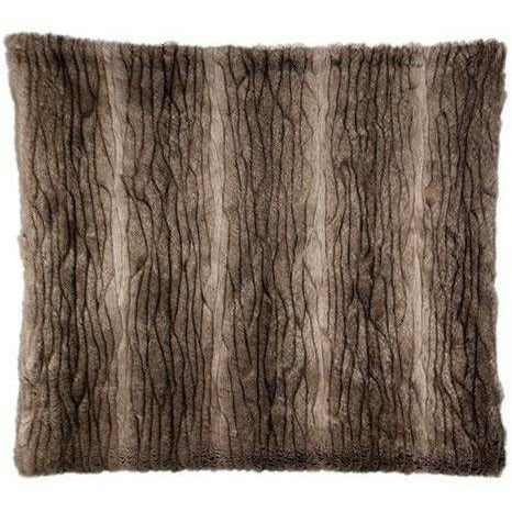 Bedford Collections Yukon Luxury Faux Fur Pillow, Set/2