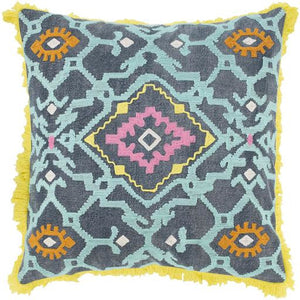 Surya Kiko KKO-004 Cotton Global Pillow-annieandel