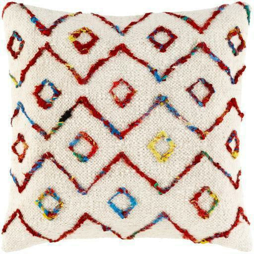 Surya Nettie NET-002 Wool Global Pillow-annieandel