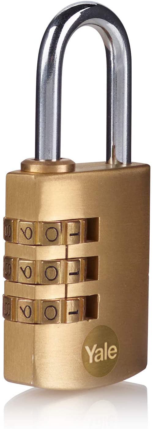 Yale Y150B/30/125/1 Brass Combination Padlock (30 mm)
