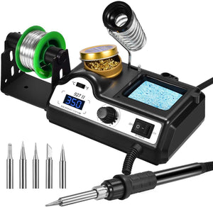 Preciva Soldering Iron Station with Soldering Iron and Accessories Set