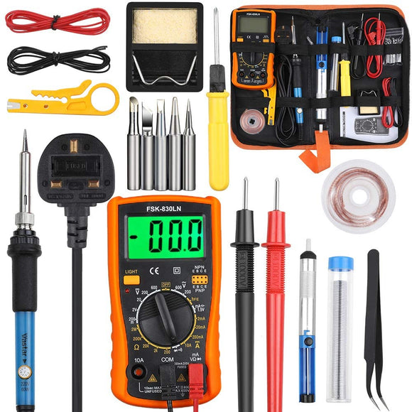 Soldering Iron and Multimeter Kit