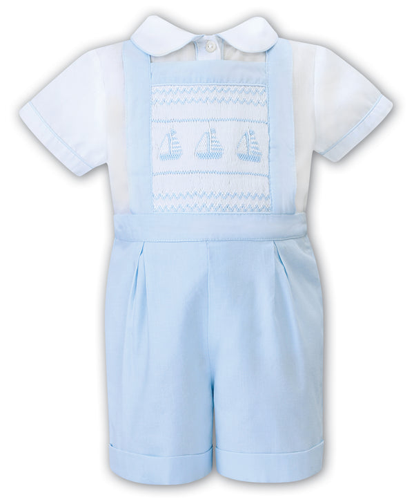 SS21 Sarah Louise Smocked Dungaree & Shirt set