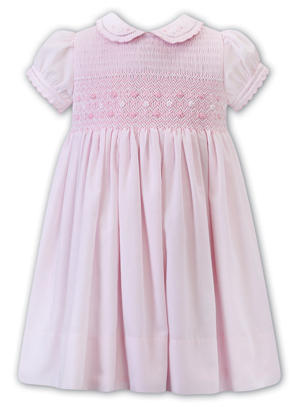 SS21 Sarah Louise Pink Hand Smocked Dress