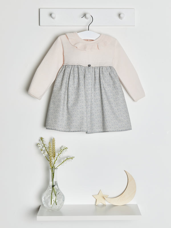 Wedoble knit & woven dress - Rose & Albert