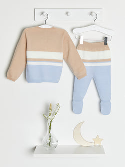 Wedoble stripe knitted jumper & legging set - Rose & Albert