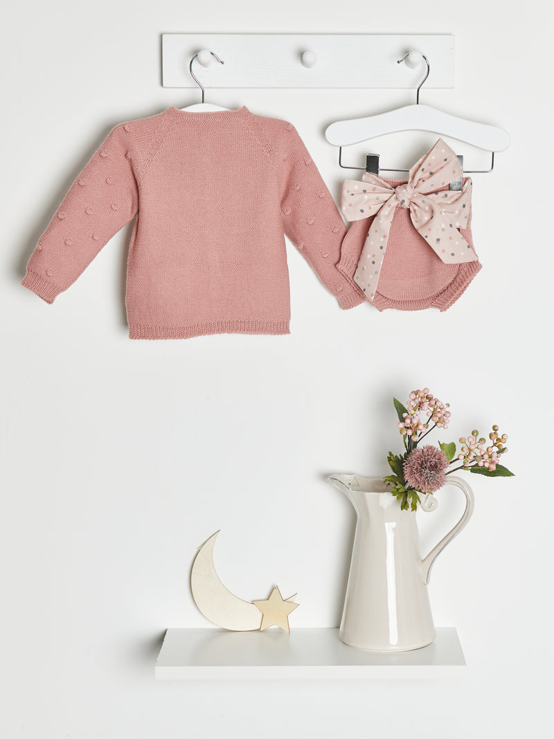 Wedoble popcorn knitted cardigan & knicker set - Rose & Albert