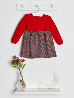 Wedoble tartan & wool knit dress - Rose & Albert