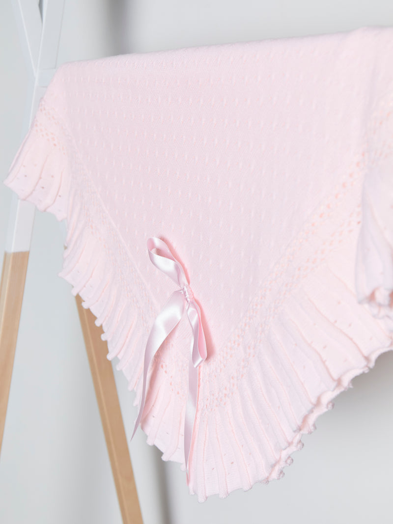 large Spanish cable knit pleated shawl - Rose & Albert