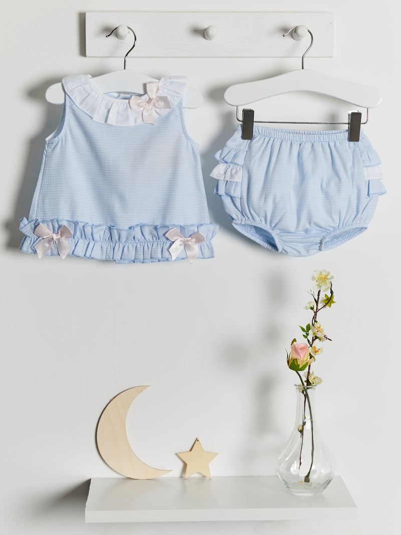 Caramelo Kids frilly jam pant set - Rose & Albert