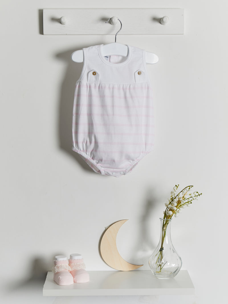 Babidu stripe romper - Rose & Albert
