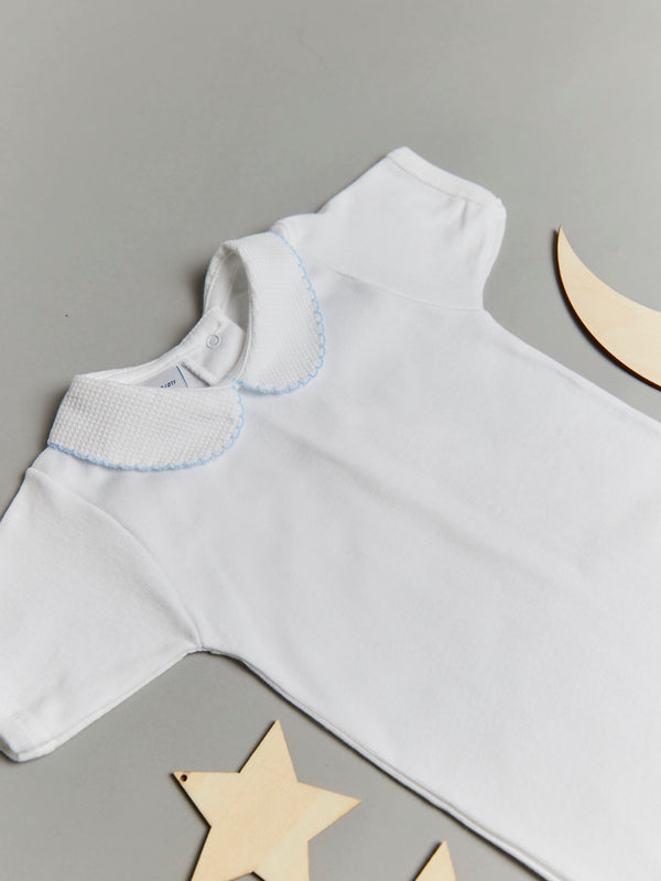 Babidu Peter Pan Collar Bodysuit - Blue - Rose & Albert