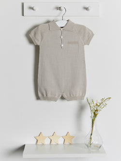 Wedoble polo knitted romper - Rose & Albert