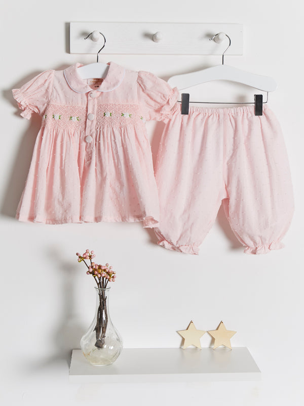 As Seen in Vogue hand smocked bloomer set