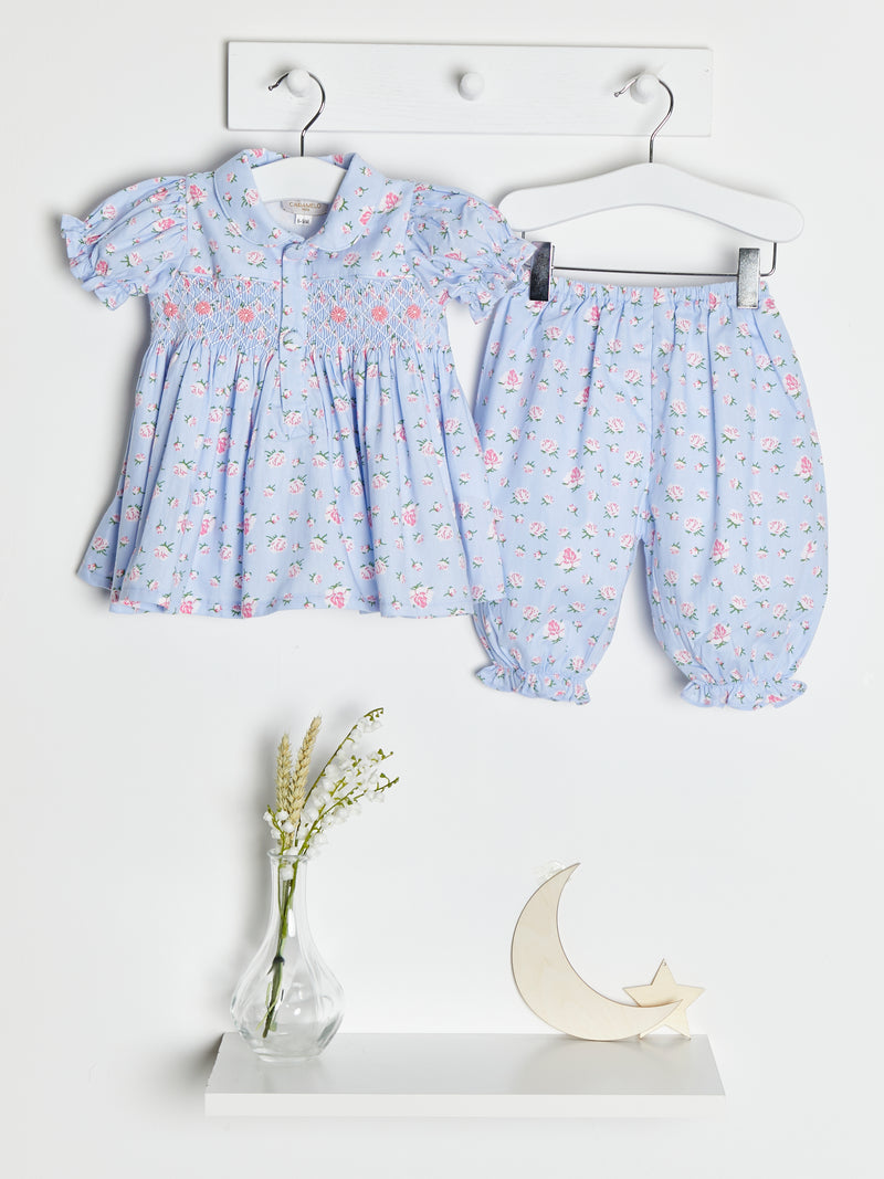 Caramelo kids hand smocked bloomer set - Rose & Albert