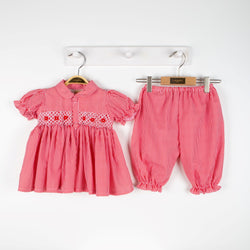 Caramelo Kids hand smocked bloomer set pre order - Rose & Albert