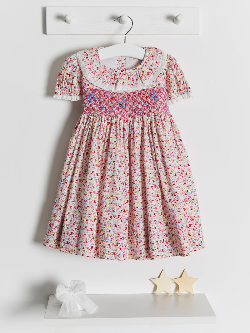 Caramelo Kids Smocked Dress - Rose & Albert